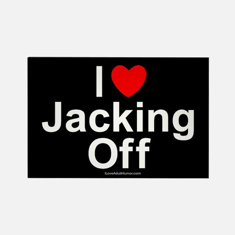 Jacking Off Rectangle Magnet