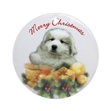 Great Pyrenees Christmas Ornament (Rd)