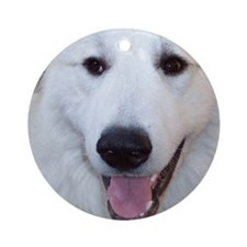 Great Pyrenees Ornament [rd] Pyrface