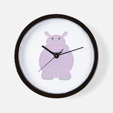 Cartoon Hippo Wall Clock
