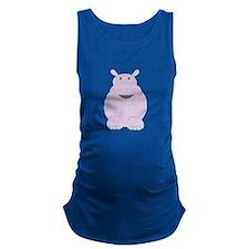 Cartoon Hippo Maternity Tank Top