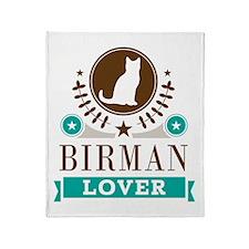 Birman Cat Lover Throw Blanket