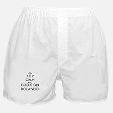 Keep Calm and Focus on Rolando Boxer Shorts