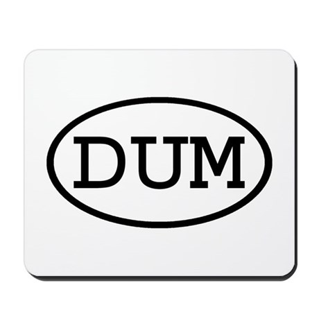 DUM Oval Mousepad