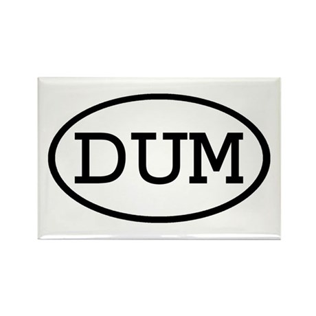 DUM Oval Rectangle Magnet (100 pack)