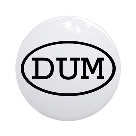 DUM Oval Ornament (Round)