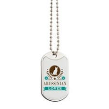 Abyssinian Cat Lover Dog Tags