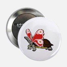 """Terrapinfly ( winged turtle ) 2.25"""" Button (10 pac"""