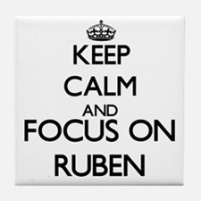 Keep Calm and Focus on Ruben Tile Coaster