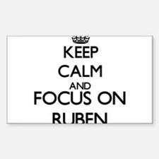 Keep Calm and Focus on Ruben Decal