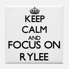 Keep Calm and Focus on Rylee Tile Coaster