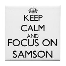 Keep Calm and Focus on Samson Tile Coaster