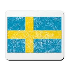 Distressed Sweden Flag Mousepad