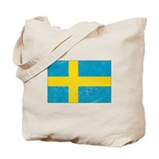 Distressed Sweden Flag Tote Bag