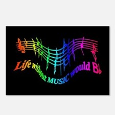 Life without Music would B flat Humor quote Postca