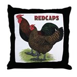 Red Caps Throw Pillow