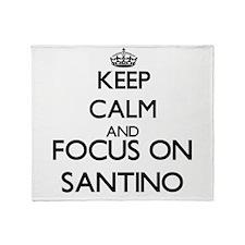 Keep Calm and Focus on Santino Throw Blanket