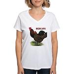 Red Caps Women's V-Neck T-Shirt
