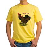 Red Caps Yellow T-Shirt