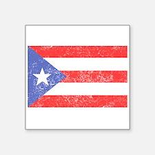 Distressed Puerto Rico Flag Sticker