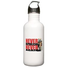 lawn-never-republican.png Water Bottle