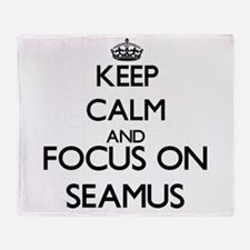 Keep Calm and Focus on Seamus Throw Blanket