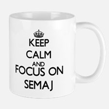 Keep Calm and Focus on Semaj Mugs