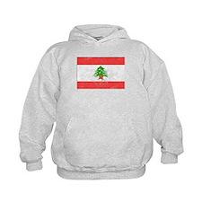 Distressed Lebanon Flag Hoodie
