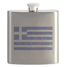 Distressed Greece Flag Flask