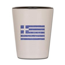 Distressed Greece Flag Shot Glass
