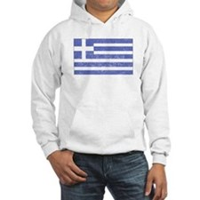 Distressed Greece Flag Hoodie