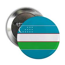 """Uzbekistan Flag 2.25"""" Button"""