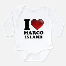 I Heart Marco Island Body Suit