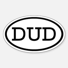DUD Oval Oval Decal