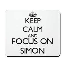 Keep Calm and Focus on Simon Mousepad