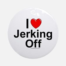 Jerking Off Ornament (Round)