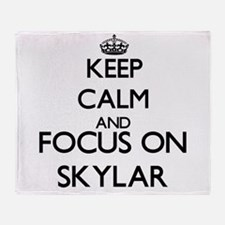 Keep Calm and Focus on Skylar Throw Blanket