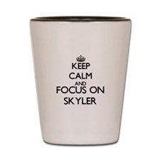 Keep Calm and Focus on Skyler Shot Glass