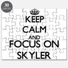 Keep Calm and Focus on Skyler Puzzle