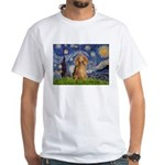 Starry / Doxie (LH-Sable) White T-Shirt