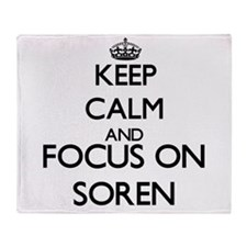 Keep Calm and Focus on Soren Throw Blanket