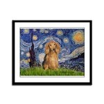 Starry / Doxie (LH-Sable) Framed Panel Print