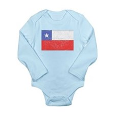 Distressed Chile Flag Body Suit