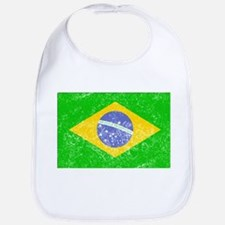 Distressed Brazil Flag Bib