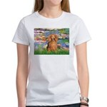 Lilies (2) & Doxie (LH-Sable) Women's T-Shirt