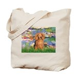Lilies (2) & Doxie (LH-Sable) Tote Bag