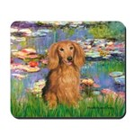 Lilies (2) & Doxie (LH-Sable) Mousepad