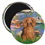 Lilies (2) & Doxie (LH-Sable) Magnet