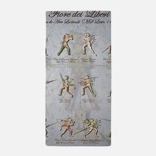 "Longsword Positions Fiore dei Liberi "" Beach Towel"
