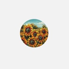 Country Sunflower Mini Button (100 pack)